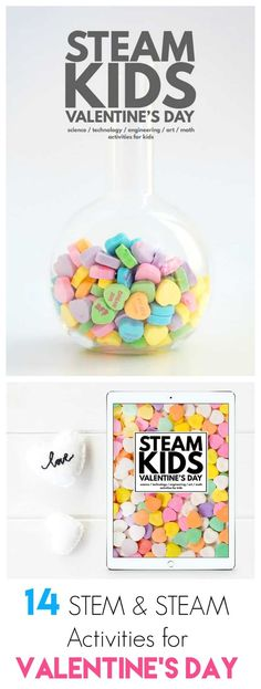 STEAM Kids Valentine's Day: STEAM / STEM activities for preschool kindergarten and elementary aged children! Including crystal hearts magnets rocket valentines LED roses and more! Math Activities For Kids, Steam Activities, Valentines Day Activities, Math For Kids, Valentine Day Crafts, Science For Kids, Crafts For Kids, Valentines Recipes, Stem Science