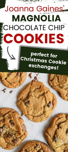 Straight from the Magnolia Table, here is the perfect Christmas Chocolate Chip Cookie recipe for Santa. These are crisp on the edges, and soft in the middle. A little sprinkle of sea salt makes them pop. The depth of flavor is caused by lots of brown sugar. These are family favorites!