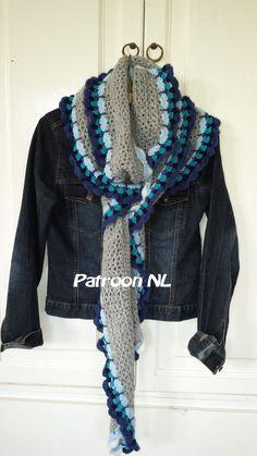 Patroon Lange sjaal Nederlands / Crochet pattern long by ByTjonge