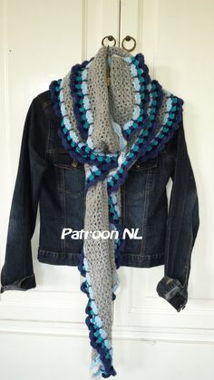 Dit is een patroon dat kunt u haak deze lange sjaal jezelf ***  HET PATROON -rij door rij beschrijving in Nederlandse termen met inbegrip van fotos