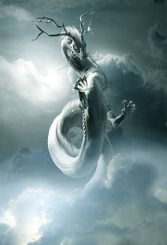 Artwork by Tatsuki Mythical Creatures Art, Magical Creatures, Japanese Mythical Creatures, Fantasy Monster, Monster Art, Dark Fantasy Art, Fantasy Artwork, Arte Dark Souls, Mythical Dragons