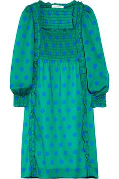 Sonia by Sonia Rykiel Polka-dot cotton-voile dress