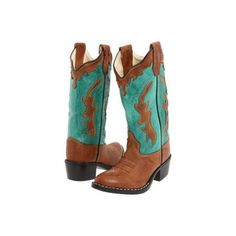 Old West Kids Boots Fashion Western Boot Cowboy Boots - Tan
