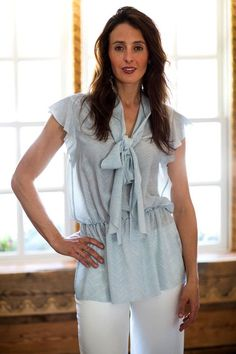 Kiton Oristano Silk Sleeveless Blouse In Blue and White - outfit blouses, womens white blouses long sleeve, blouse shirt *sponsored https://www.pinterest.com/blouses_blouse/ https://www.pinterest.com/explore/blouse/ https://www.pinterest.com/blouses_blouse/blouse-designs/ https://www.stylewe.com/category/blouses-73_113