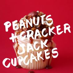How to make Peanuts and Crackerjack Cupcakes.