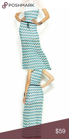 INC Beach Paradise Halter Knit Maxi Dress NEW Blue Beach Paradise Halter Knit Maxi Casual Dress. Will fit 8-10 stretchy fabric. Measurements Taken Laid Flat & Are Approx: Bust: 15 inches Waist: 14 inches Sleeve: inches Length: 61 inches 99% Rayon  Original Retail Price: $119 INC International Concepts Dresses Maxi