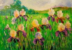 Buy Irises, Oil painting by Olha Darchuk on Artfinder. Discover thousands of other original paintings, prints, sculptures and photography from independent artists.