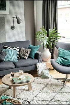 Derya hanımın modern stilde uyumlu ve zevkli evi.. | Living rooms ...