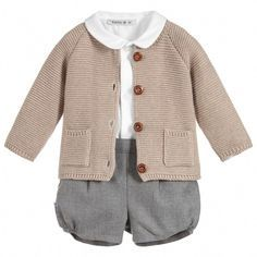 Unisex 3 Piece Baby Shorts Set Little girl outfits - Cute Adorable Baby Outfits Baby Fall Fashion, Girls Winter Fashion, Fashion Kids, Toddler Fashion, Baby Outfits, Toddler Outfits, Kids Outfits, Newborn Outfits, Stylish Baby Girls
