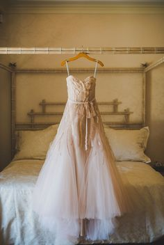 Monique Lhuillier bridal gown. Port Royal Wedding from Margaret Events + Trenholm Photography