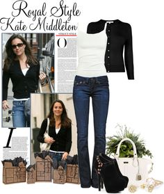 """Kate Middleton Street Style"" by deborah-simmons ❤ liked on Polyvore"
