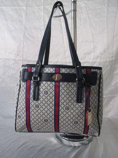 Tommy Hilfiger Handbag Shopper II Color Beige Red Blue Retail Price $85.00…