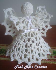 Pink Rose Crochet: Anjo de Natal Dourado Crochet Christmas Ornaments, Holiday Crochet, Crochet Snowflakes, Crochet Home, Christmas Crafts, Christmas Mason Jars, Christmas Bells, Christmas Angels, Merry Christmas
