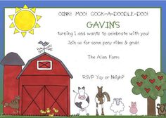 Kara's Party Ideas | Kids Birthday Party Themes: farm barnyard birthday party