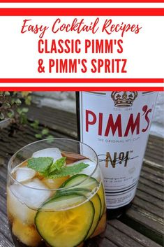 Classic Pimm's Recipe and Pimm's Spritz Recipe - Traditional British Summer Cocktail Alcoholic Cocktails, Easy Cocktails, Classic Cocktails, Summer Cocktails, Cocktail Recipes, Drink Recipes, Best Pasta Recipes, Easy Healthy Recipes, Simple Recipes