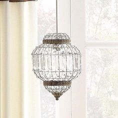 Vintage Large Clear Brass Metal Moroccan Lantern Style Light Shade Pendant NEW