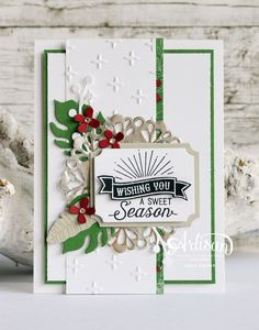 Stampin Up Peace this Christmas Stamp Set paired with the This Christmas Patterned Paper Homemade Christmas Cards, Stampin Up Christmas, Christmas Cards To Make, Christmas Paper, Xmas Cards, All Things Christmas, Homemade Cards, Handmade Christmas, Holiday Cards