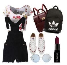 """""""Summertime!!!"""" by rfaizaxx ❤ liked on Polyvore featuring Converse, Mulberry, adidas Originals and Smashbox"""