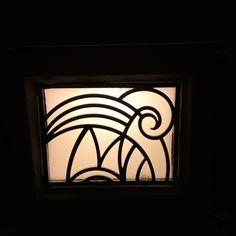 planter corner lighting