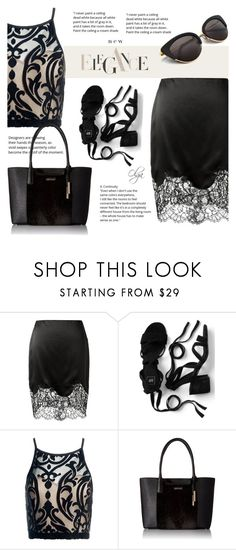 """Black... just Black"" by olga1402 on Polyvore featuring Givenchy, Sans Souci, Calvin Klein and black"