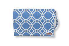 Azul Lattice Diaper Clutch Set. This blue is SO dreamy, and SO Santorini!!