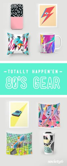 Get the most bangin' gear inspired by the awesome 80s! Shop 80s throw pillows, tapestries, shirts, phone cases, mugs and so much more.