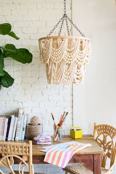 DIY: bead chandelier