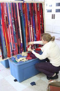 July 12 & 13 2015 Potholder Rug Weaving by CrispinaMaterial