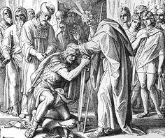 Bilder der Bibel - Josua zu Moses Nachfolger geweiht - Julius Schnorr von Carolsfeld