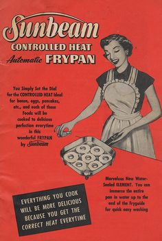 Sunbeam Automatic FryPan Cookbook 1953 - Remember these American-made products?
