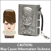 CAUTION: May Cause Hibernation Sickness...Han Solo in Carbonite USB 8GB Flash Drive! Totally Wicked!