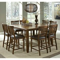 9 piece expandable square dining room set 1,019 COASTER