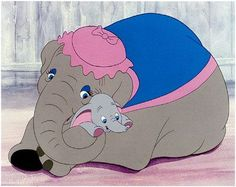 Walt Disney's simple, charming, beautifully animated 1941 cartoon Dumbo, made in hand-painted images and filmed in gorgeous Technicolor, tells the magical tale of a flying baby elephant with big ea… Old Disney, Disney Love, Disney Magic, Disney Pixar, Vintage Disney, Disney Viejo, Dumbo Movie, Dumbo Cartoon, Baby Mine