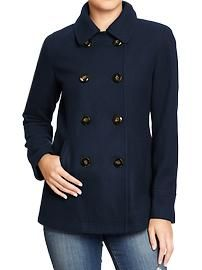 Same coat in navy blue Women's Classic Wool-Blend Peacoats Fall Winter Outfits, Autumn Winter Fashion, Fall Fashion, Plus Size Fall, Work Looks, Old Navy Women, Maternity Wear, Sweater Weather, Coats For Women