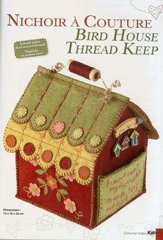 Caixa de costura em feutro de Marianne Byrne Goarin (The Cinnamon Patch)