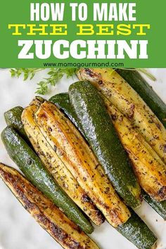 Learn how to cook zucchini the absolute best way! Roasted Zucchini is an easy, oven baked recipe perfect all year round. Golden, roasted summer squash is flavored with garlic and seasonings for a healthy side dish everyone will devour!#roasted #baked #zucchini #squash #yellowsquash #recipes #oven #crispy