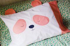 DIY Panda Pillowcase - FREE Sewing Tutorial #DIY #crafts