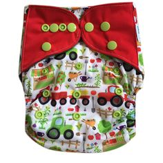 "HappyEndings ""Night, Night""™ Charcoal Bamboo AIO Diaper (Plus Pocket!) ""Old MacDonald's Farm"" — HappyEndings Eco Diapers, LLC"