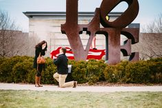 Engaged in Indy! #Engagement #wedding #proposal #LoveIndy