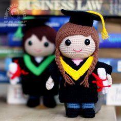 Amigurumi Graduation Dolls