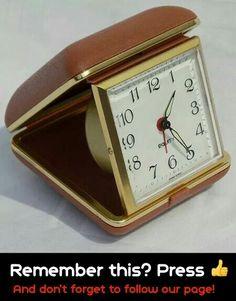 Vintage Equity Hong Kong retro fold up mechanical travel alarm clock WORKING! 1970s Childhood, My Childhood Memories, Childhood Toys, Sweet Memories, Vintage Toys, Retro Vintage, Vintage Trucks, Vintage Travel, Travel Alarm Clock