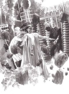 Universal Classic Monsters Art : The Bride Of Frankenstein 1935 by Alex Ross.