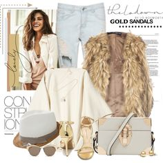 A fashion look from October 2015 featuring Dorothy Perkins vests, Wild Diva sandals and Reiss shoulder bags. Browse and shop related looks.