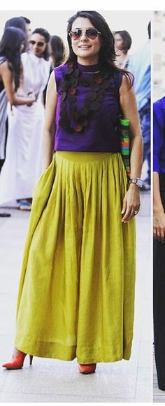 Payal Khandwala # casual day look # mini Mathur # indian fashion - Schickyschick - # India Fashion, Ethnic Fashion, Colorful Fashion, Indian Attire, Indian Wear, Indian Outfits, Asian Street Style, Indian Look, Indian Designer Wear