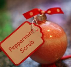 Peppermint Bath Salt Ornament...