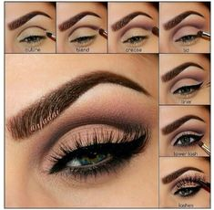 Step by step on cut crease