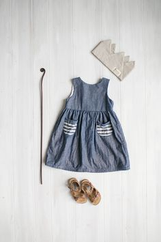 Charlotte Dress – Chambray | Tortoise & the Hare Clothing
