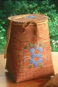 Traditional birch bark basket