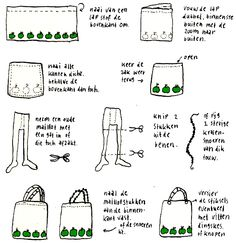 Tutorial how to make an easy bag with tights