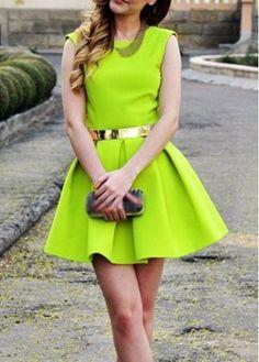 Fine Quality Open Back Sleeveless A Line Dress